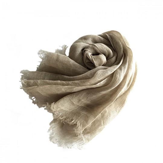 Schal Leinen Beige 65 x 175cm