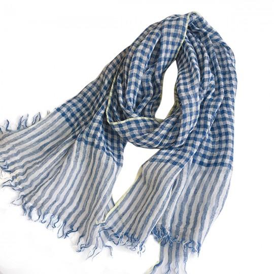 Schal Leinen Blau 65 x 180cm