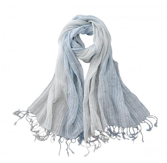 Schal Leinen Blau 70 x 170cm