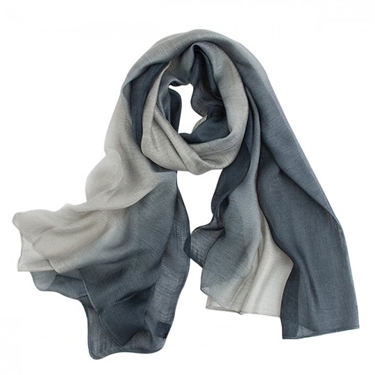 Schal Seiden Modal Grau 80 x 190cm