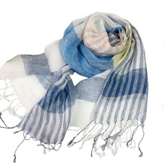 Schal Leinen Blau 60 x 180cm