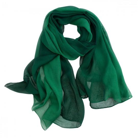 Schal Seiden Modal Grün 80 x 190cm