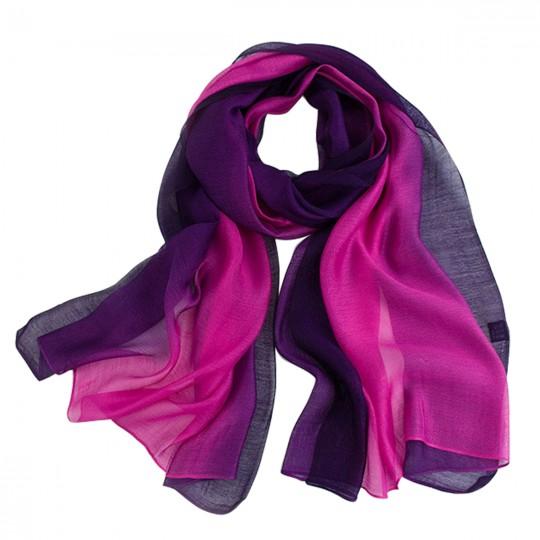 Schal Seiden Modal Violett 80 x 190cm