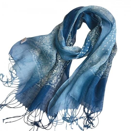 Schal Leinen Blau 60 x 185cm