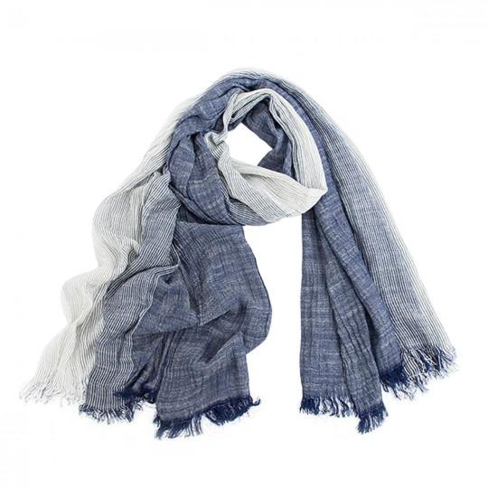 Schal Baumwolle Blau 80 x 190cm