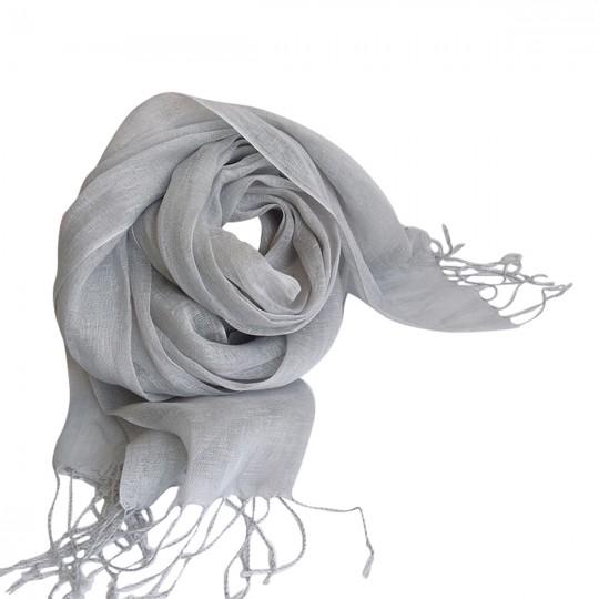 Schal Leinen Grau 70 x 190cm