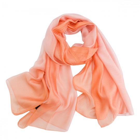 Schal Seiden Modal Pink 80 x 190cm