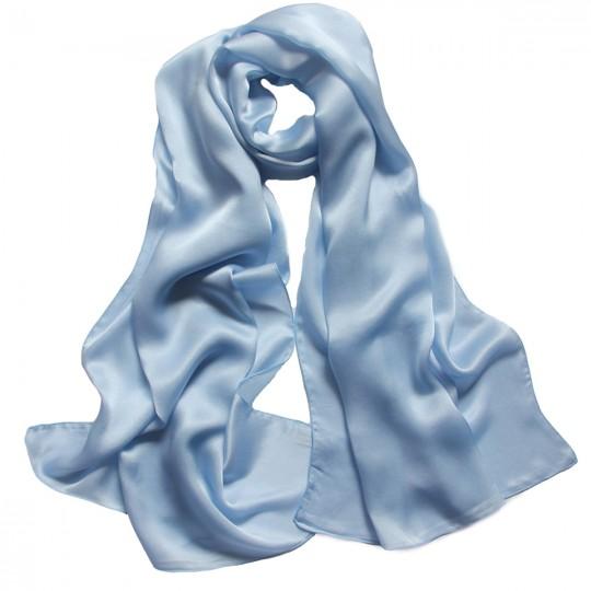 Schal Seiden Blau 65 x 170cm