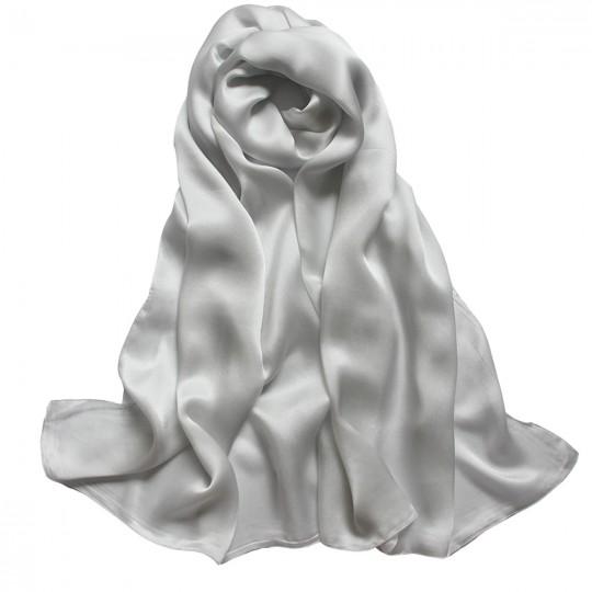Schal Seiden Grau 65 x 170cm