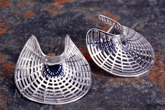 Silber Ohrstecker Geometrie