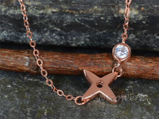 Silberkette Stern