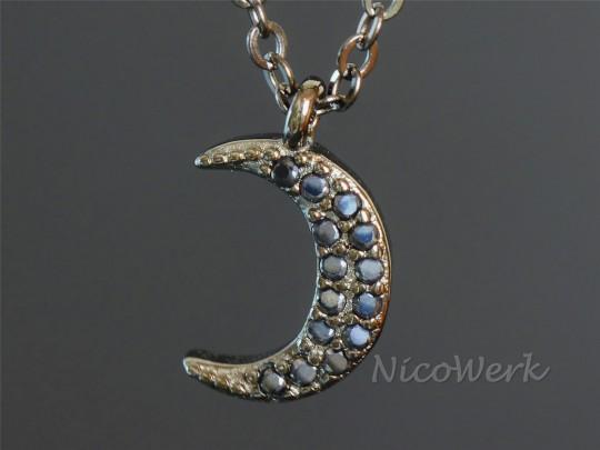 Silberkette Mond