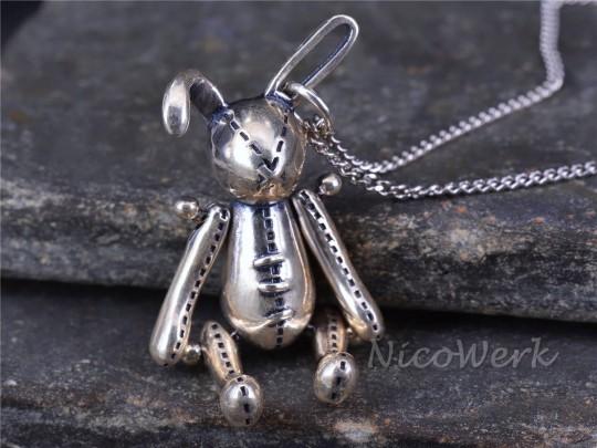 Silberkette mit Anhänger Kaninchen