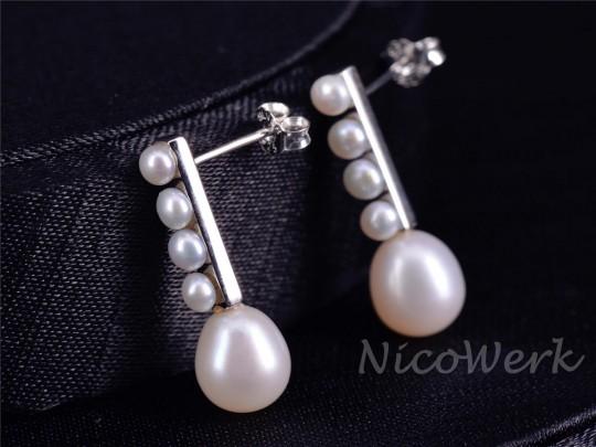 Silber Ohrstecker Perle