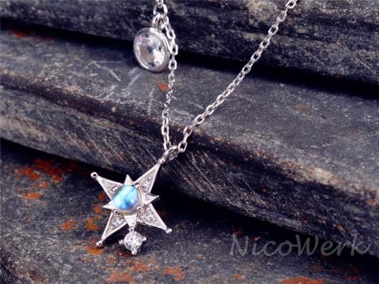 Silberkette mit Anhänger Stern