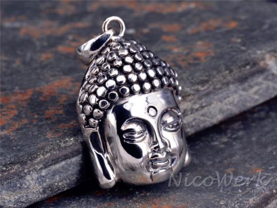 Silberanhänger Buddha