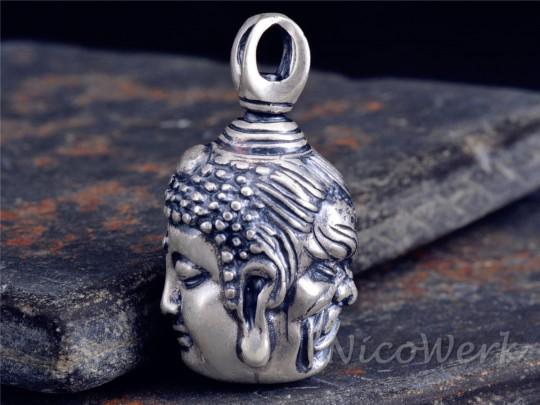 Silberanhänger Buddha Dämon