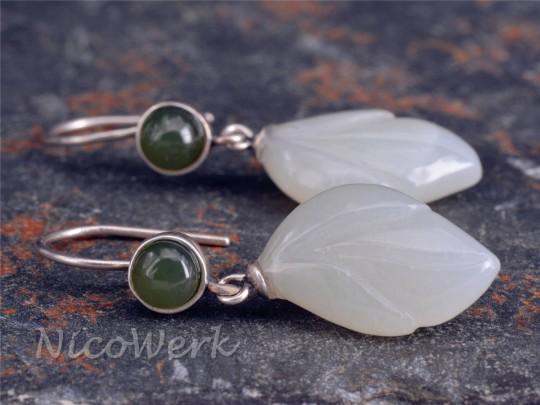 Silber Ohrringe Jade