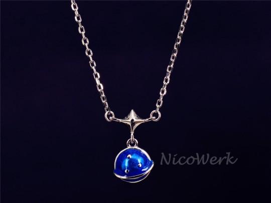 Silberkette mit Anhänger Planet