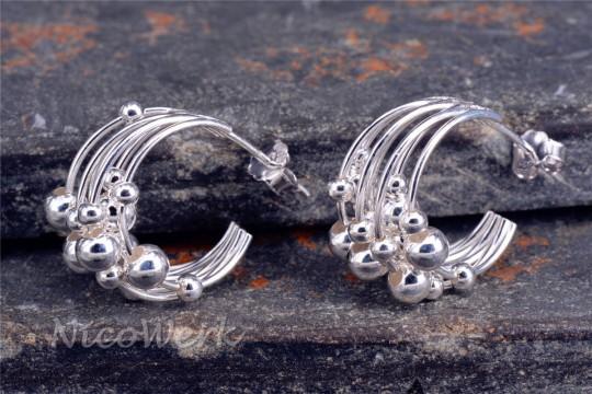 Silber Ohrringe Kugel