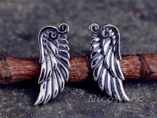Silber Ohrstecker Engelsflügel