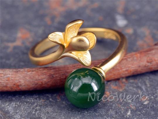 Silberring Jade