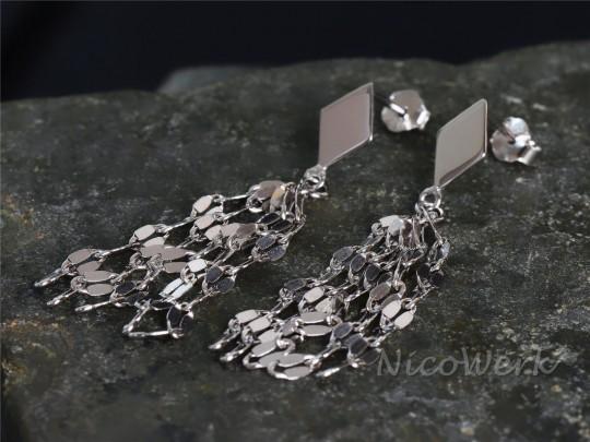 Silber Ohrringe Franse