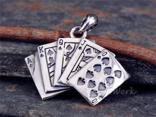 Silberanhänger Poker