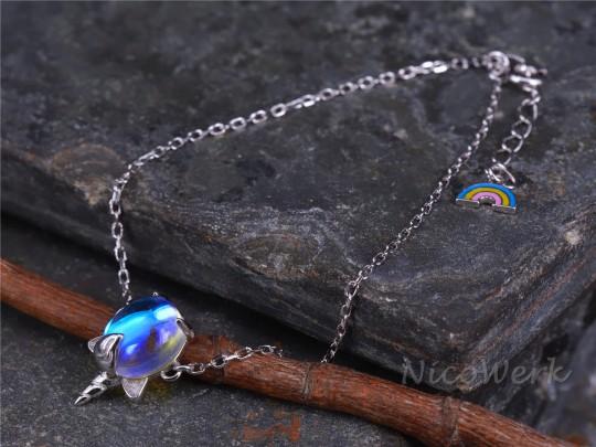 Silberarmband Einhorn