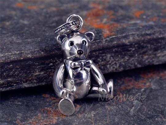 Silberanhänger Teddybär