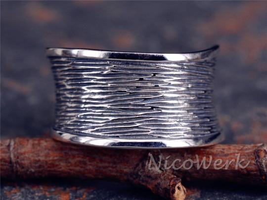 Silberring Breit