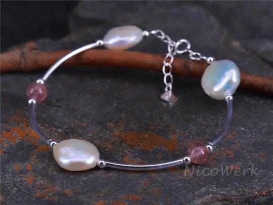 Silberarmband Perle