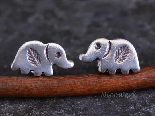 Silber Ohrstecker Elefant