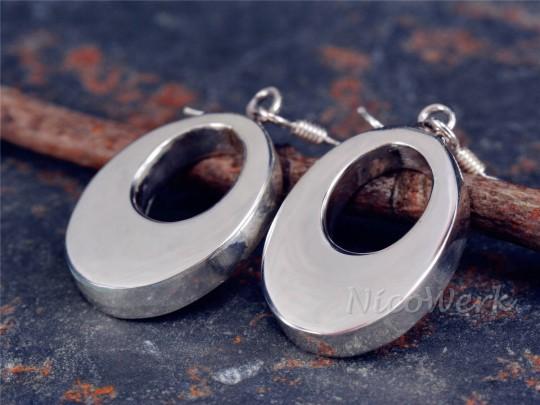 Silber Ohrringe Oval
