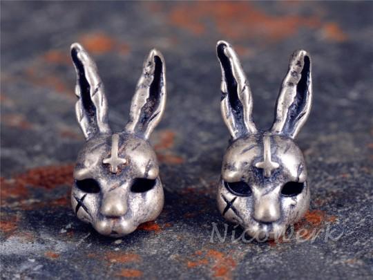 Silber Ohrstecker Kaninchen