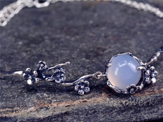 Silberarmband Chalcedon
