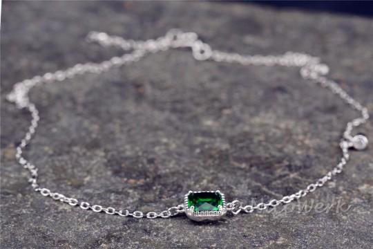 Fußkettchen Silber Smaragd