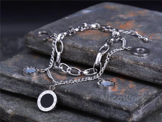 Edelstahl Armband Kreis