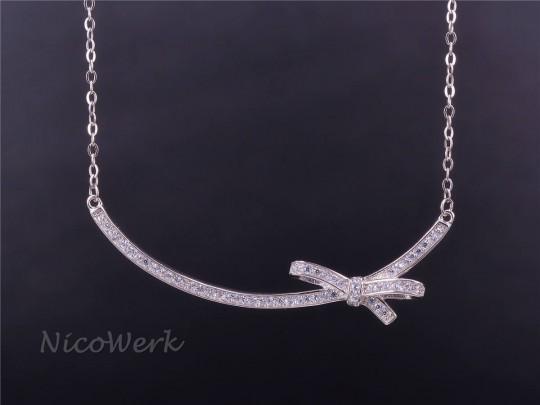 Silberkette mit Anhänger Schleife
