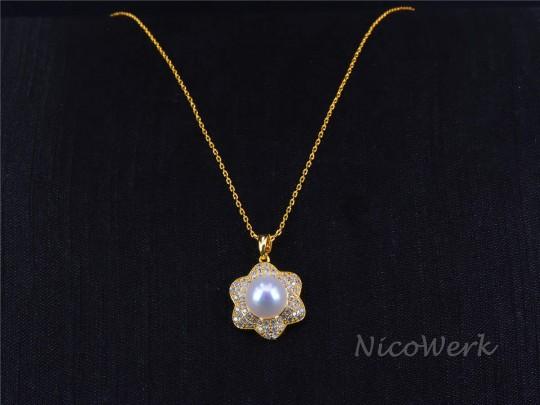 Perlenkette Perfekt Rund 10mm Collier