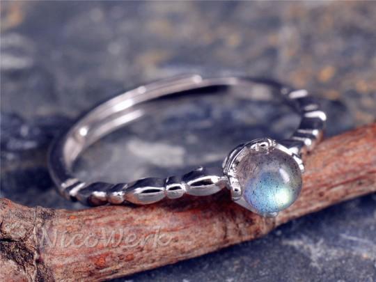 Silberring Mondstein