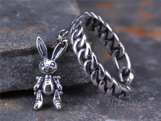 Silberring Hase