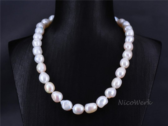 Perlenkette Barockperle 10-11mm Collier