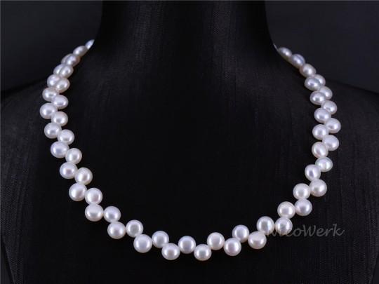 Perlenkette Rund 7mm Collier