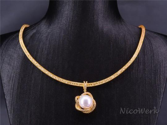 Perlenkette Perfekt Rund 12mm Collier