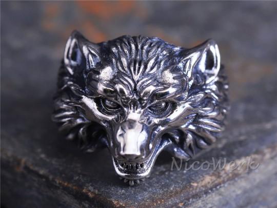 Silberring Wolf