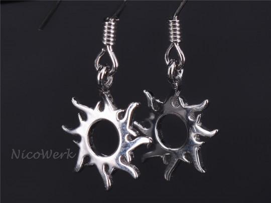 Silber Ohrringe Sonne