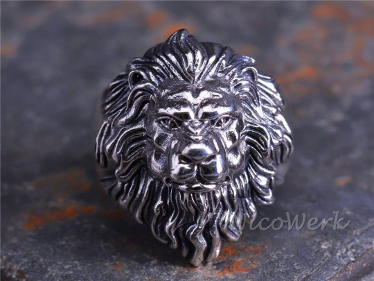 Silberring  Löwe