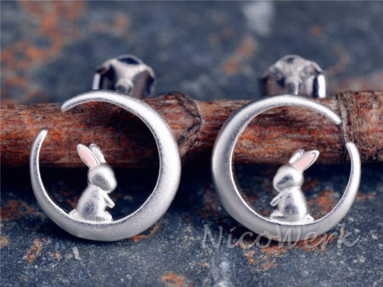 Silber Ohrstecker Hase