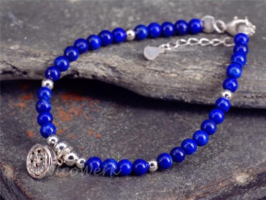 Silberarmband Lapis Lazuli